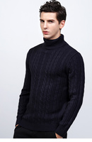 Autumn Winter Fashion Men's Pullover Sweaters Long Sleeve Turtleneck Knitting Sweater for Men