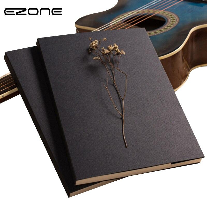 Ezone 1pc Kraft Inner Paper Notebook Blank Cover Creative Sketch Book Kids Gift Korean Stationery School Supply Girt Fpr Teacher