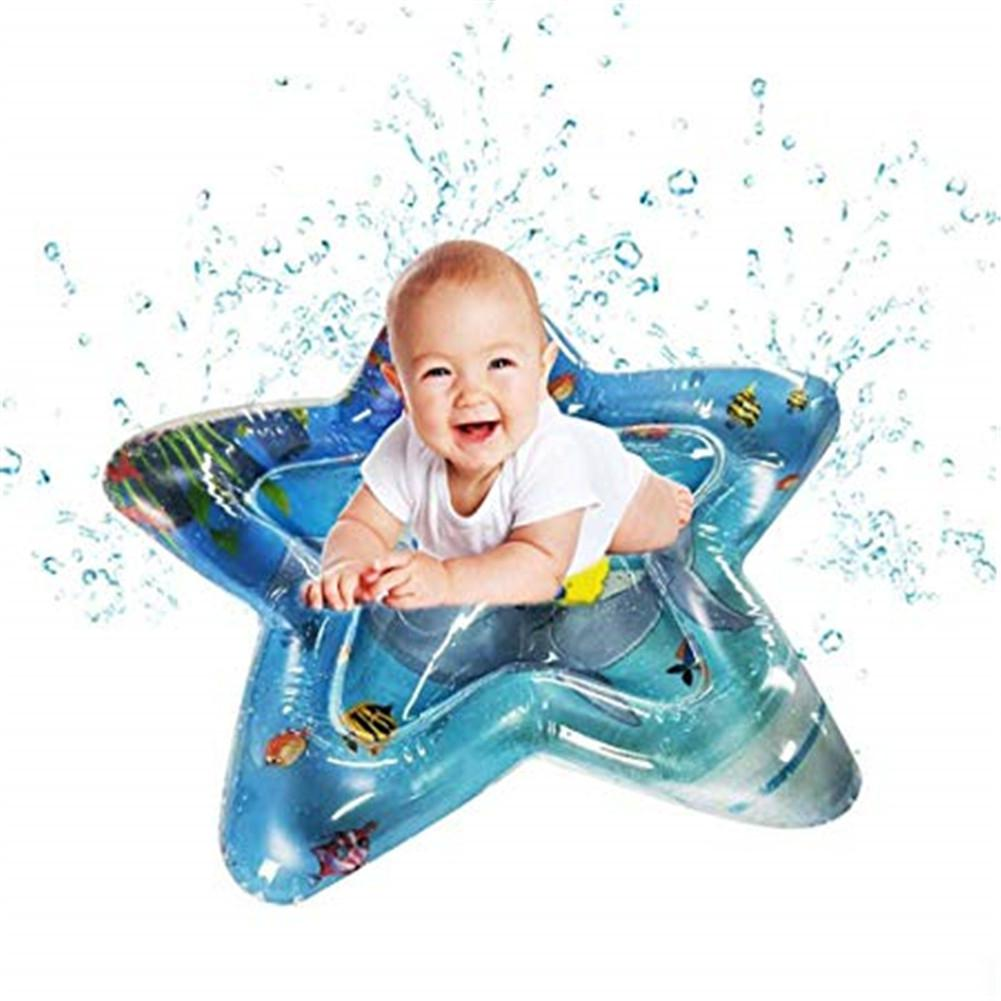 None Baby Infant Five Poined Star Shape Inflatable Water Filled Mat Toy