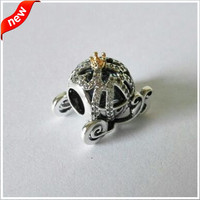 CKK Silver 925 Jewelry Cinderella Pumpkin Coach Charms Sterling Silver Bead Charm Fits Pandora Bracelet Beads for Jewelry Making