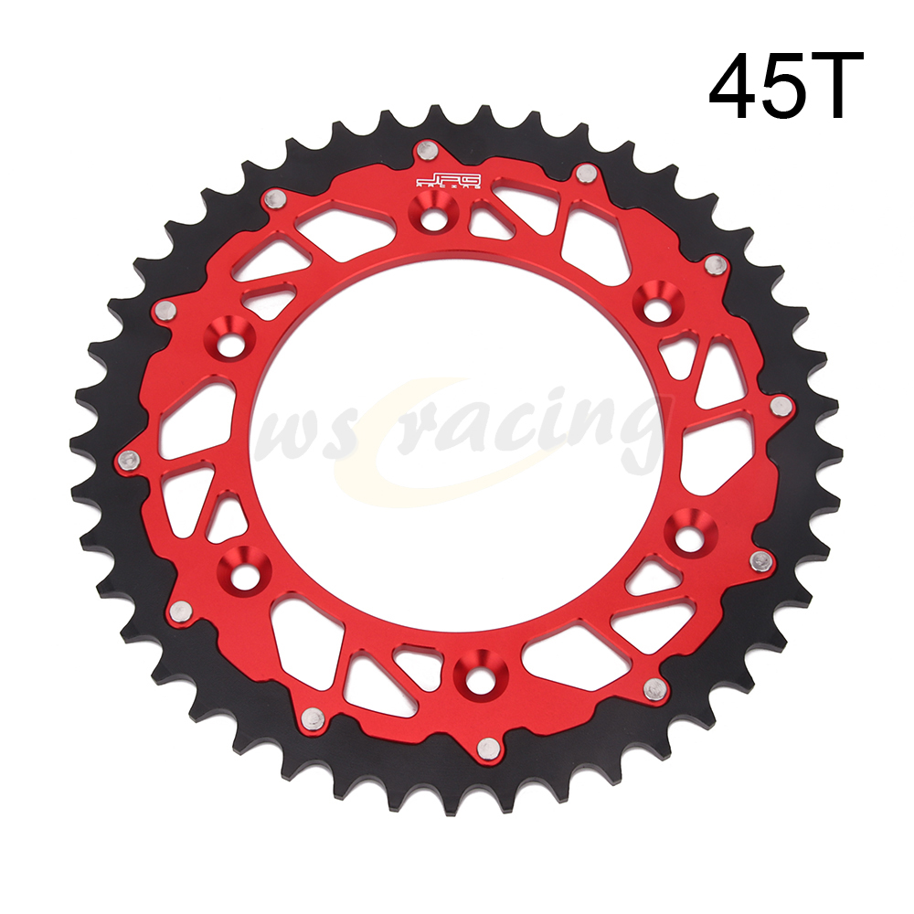 45T 47T <font><b>48T</b></font> 49T 50T 51T 52T Rear Chain <font><b>Sprocket</b></font> For Honda CR CRF XR CRM 125 150F 230F 230L 250 250X 250R 400 450R 450X 500 650R image