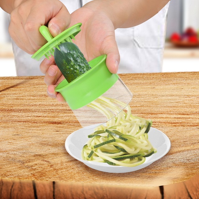 HOOMIN Carrot Cucumber Grater Spiral Blade Cutter  Vegetable Fruit Spiral Slicer  Salad Tools  Zucchini Noodle Spaghetti Maker 1
