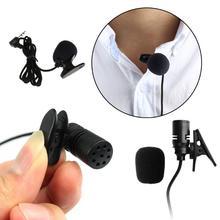 Mic Clip-On-Microphone Conference Wire Tourist-Guide Lavalier Lapel Portable Mono