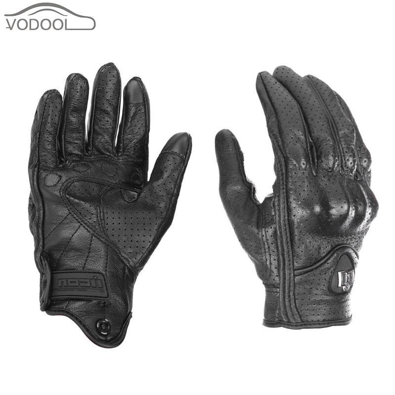 Gants de moto en cuir écran tactile moto cicleta gant de cyclisme hiver chaud doigt complet gants de guantes moto luva moto ciclista
