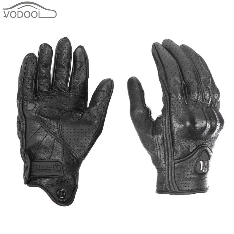 Leder moto rcycle handschuhe touchscreen moto cicleta radfahren handschuh winter warme voll finger guantes moto handschuhe luva moto ciclista image