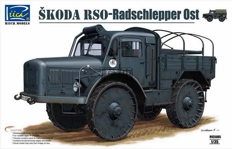Modeli 1/35 Skoda Radschlepper Ost Askeri Kamyon RV35005Modeli 1/35 Skoda Radschlepper Ost Askeri Kamyon RV35005