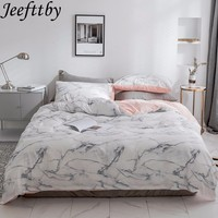 2019 Marble Pink Pattern Sheet Pillowcase And Quilt Cover 100% Cotton Luxury Bedlinen Twin Double Queen King Size Bedding Set