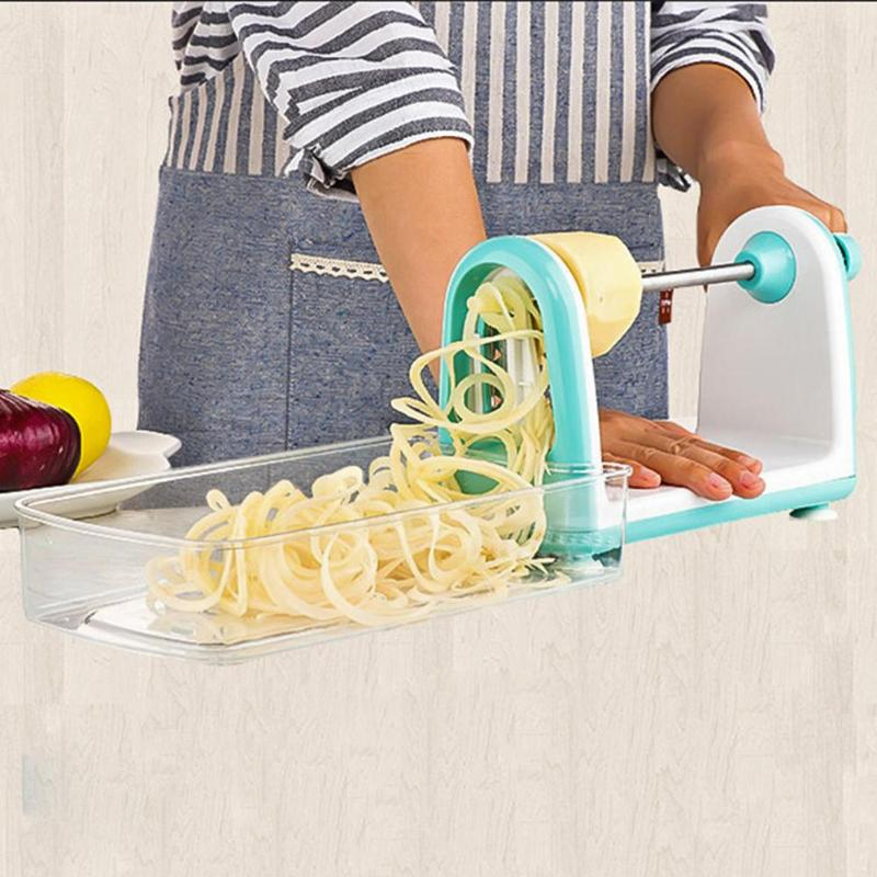 1pc Multi-functional Electric Cutter Grater Vegetables Spiral Potato Carrot Spaghetti Pasta Food Peeler Kitchen Cooking Tools