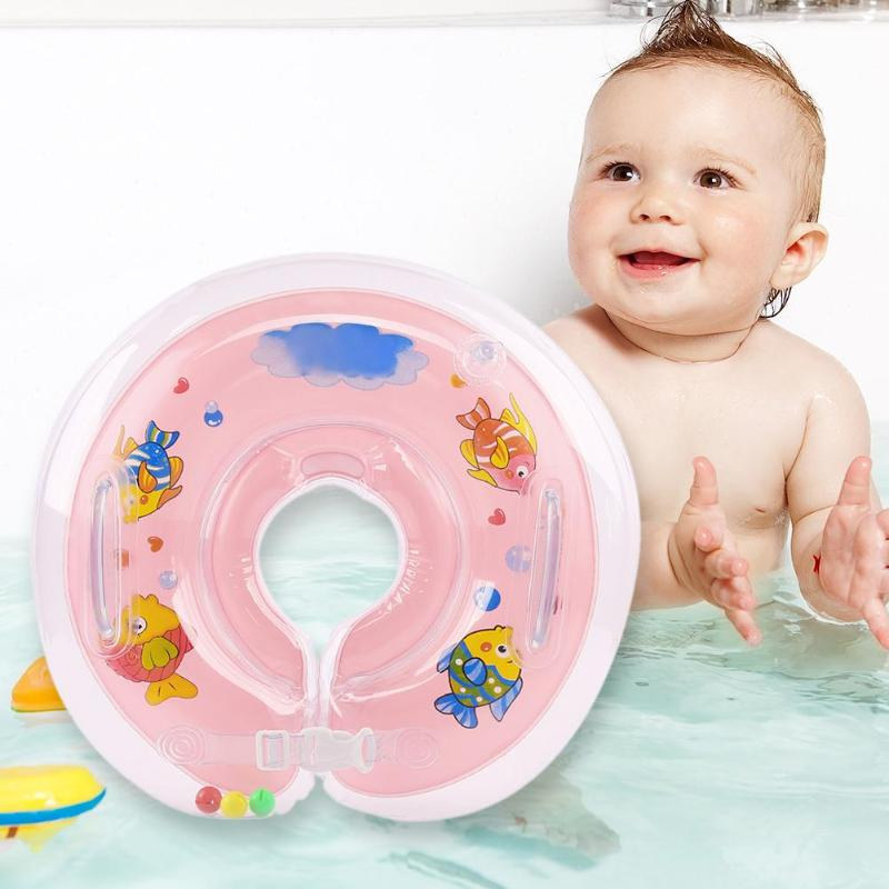 Inflatable Newborn Baby Swim Ring Pools Neck Float Circle Life Buoy Thicken Baby Pools Accessories Newborns Bathing Circle Safe