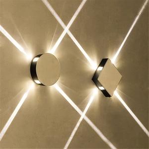Image 5 - Led 벽 램프 머리맡 램프 침실 거실 벽 램프 현대 간단한 크리 에이 티브 복도 호텔 크로스 스타 벽 빛 ac85 265v