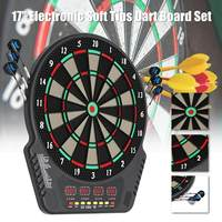 Home Toys Electronic Darts Board Set LED Scoring Display with 6 Tip Darts Shot Glass Alcohol Drink Game Roulette Target Darts