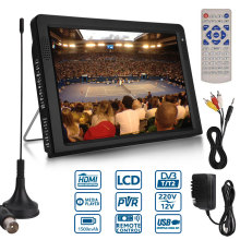 10,2 дюймов 1080P PVR 12V Портативный DVB-T/DVB-T2 TFT LED HD TV телевидение цифровой аналоговый AC/DC