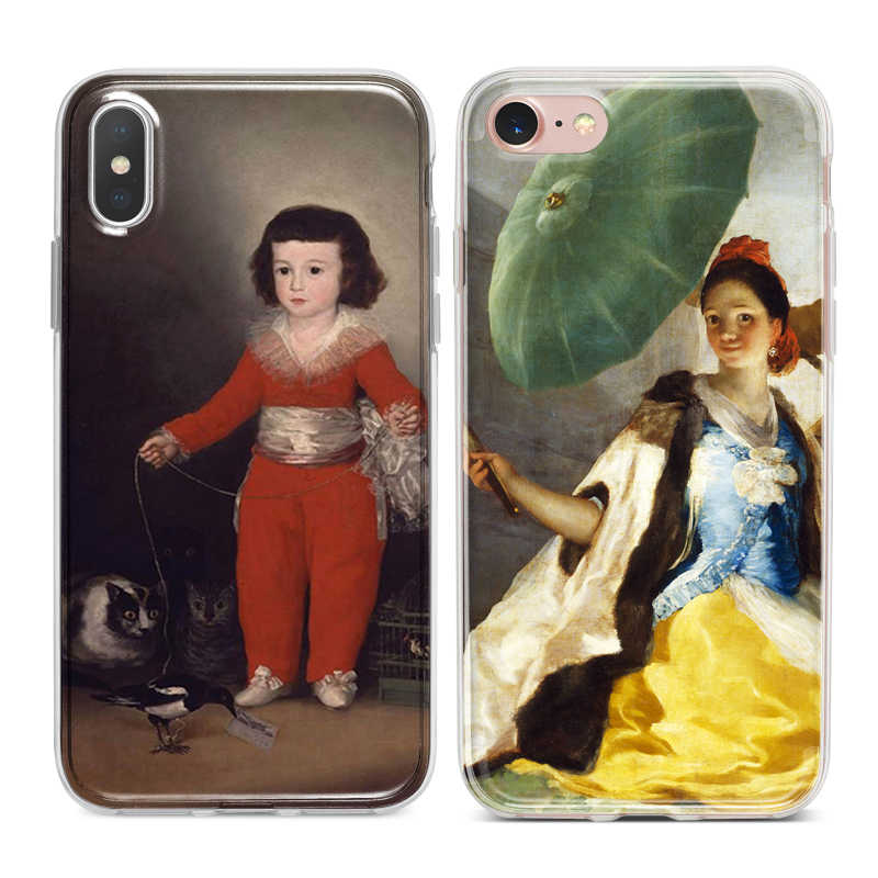 Classic Goya Painting Capa Soft TPU Silicone Phone Case Cover for iPhone XS Max XR 7 8 6 6S Plus 5S 5 SE 5C 4S 4 iPod Touch 6 5.