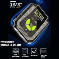 Smuxi Headlight LED + COB Head Light IR Motion/Shock Sensor Flashlight Torch Headlamp Fishing Lanterna Lamp Battery Indicator