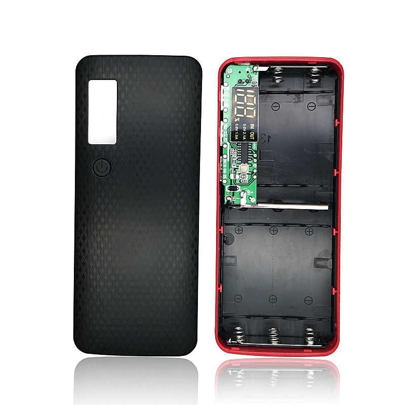 Bez spawania DIY etui na powerbank 3 USB ekran LCD obudowa z power bankiem zestaw garnitur 5x18650 baterii (brak w zestawie) ładowarka zewnętrzna