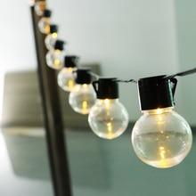 DCOO Solar Powered 10/20LEDs String Lights Transparent Globe Bulbs For Outdoor Hanging Street Fairy Garden Home Decorative Light