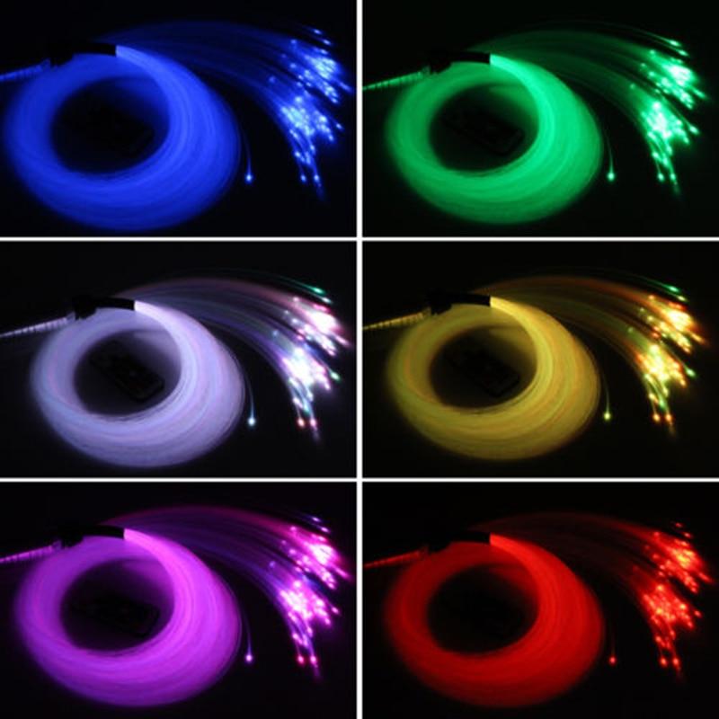 Car DC12V RGB LED Fiber Optic Star Ceiling Light Kit 100 Pcs 0.75mm 2m Optica