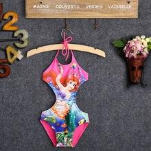 Цельные костюмы, одежда для купания для детей, для девочек, принт с героями мультфильмов, танкини, купальник, купальный костюм, парео, пояс, пляжная одежда