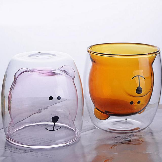 Cartoon Bear Shaped Double Layer Cup