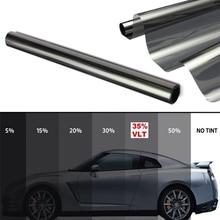 50cmX200cm Anti scratch adhesive polarizer film VLT35% Black metallized car window tint film