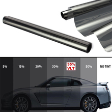 50 см X 200 см Анти-Царапины самоклеющаяся светоотражающая пленка VLT35 % черная металлизированная пленка для окна автомобиля