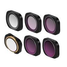 MCUV CPL ndpl ND64-PL ND32-PL ND4 ND8 Камера Объектив Комплекты фильтров для камеры DJI OSMO карманный портативный монопод с шарнирным замком Камера аксессуары