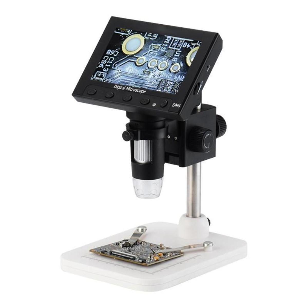 DM4 1000x 2.0MP USB Digital Electronic Microscope 4.3LCD Display VGA Microscope with 8LED and StentDM4 1000x 2.0MP USB Digital Electronic Microscope 4.3LCD Display VGA Microscope with 8LED and Stent