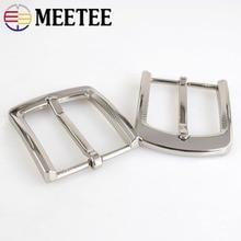 Meetee 5Pcs 35MM Belt Buckles for Men Leathercraft High Quality Zinc Alloy Jeans Pin Buckle Width 33-34mm DIY Accessories