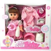 Simulation Newborn Baby Girl Reborn Baby Dolls Play House Toy Set