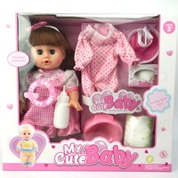 Simulation Newborn Baby Girl Reborn Baby Dolls Play House Toy Set