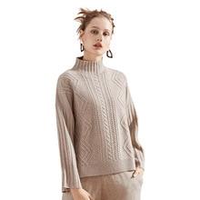 New knitting sweater 2018 autumn and winter Euramerica turtleneck twist striped cashmere women 3125