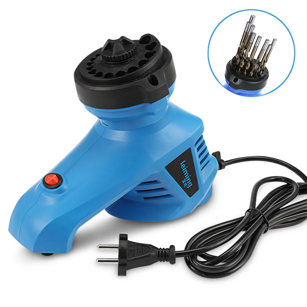 EU Plug 95W Electric Drill Bit Sharpener High Speed Drill Driver Trimming Grinder Machine 1350rpm For Grinding Drill Size 3~12mm