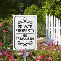 20X30cm Private Property No Trespassing Aluminum Metal Signs Indoor Outdoor Metal Safety Warning Sign 2 Drilled Hole Security