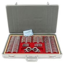 KIWARM 266 шт. набор оптических пробных линз для тестирования оптометрии, металлический обод, алюминиевый чехол, инструмент для оптометрии+ пробная рамка, подарок