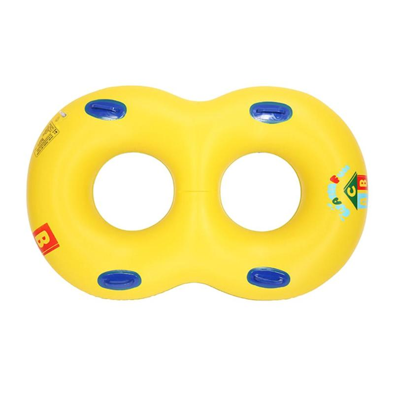 Mother Child Inflatable Swimming Ring Baby Infant Float Double Swim Circle