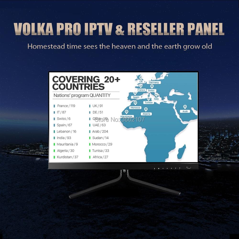 Smart tv VOLKA pro Iptv suscripción francés árabe iptv