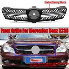 New W219 CLS500 Car Front Bumper Mesh Grille Grill For Mercedes For Benz W219 CLS500 SLS600 CLS 2005 2008 Without Emblem