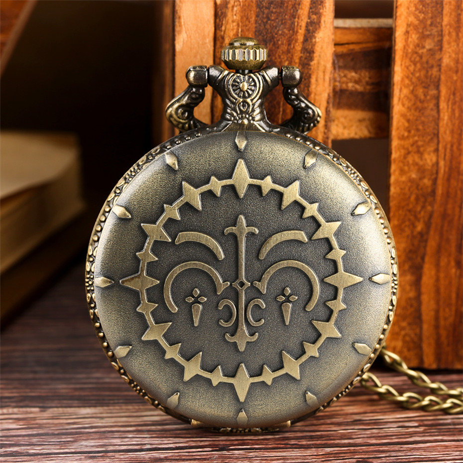 Antique Bronze Quartz Pocket Watch Retro Pendant Necklace Watch Vintage Fashion Clock Gifts For Men Women Children Reloj