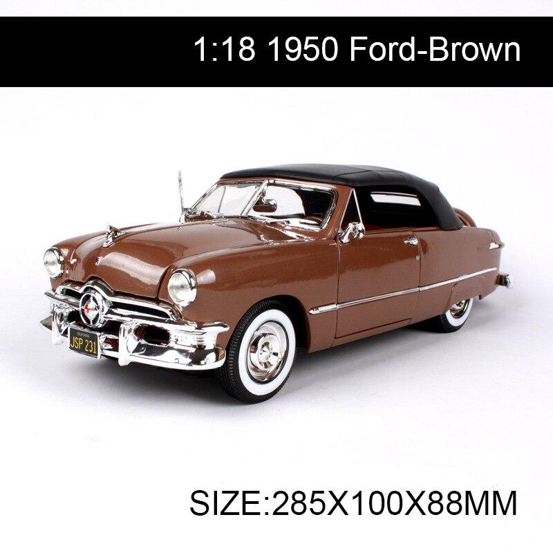 1:18 литья под давлением автомобиля 1950 классические автомобили 1:18 сплава металла коллекционные модели игрушки для подарок - 2