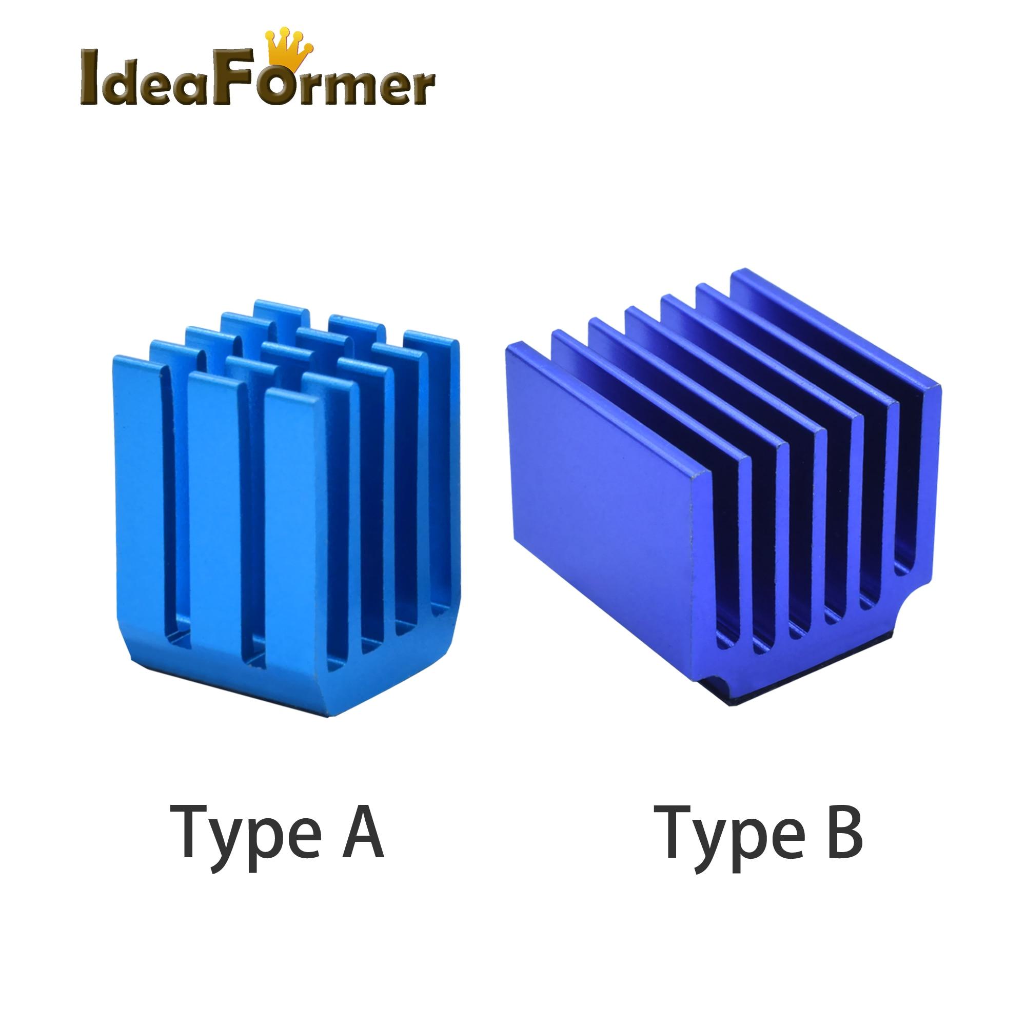 4/5/10pcs/lot 3D Printer Parts Stepper Motor Driver Heat Sinks Cooling Block Heatsink For TMC2100 LV8729 DRV8825 Drive Modules