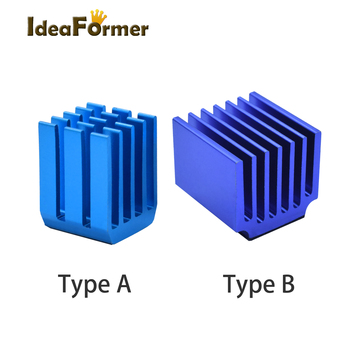 4/5/10pcs/lot 3D Printer Parts Stepper Motor Driver Heat Sinks Cooling Block Heatsink For TMC2100 LV8729 DRV8825 Drive Modules durable 3d printer motherboard gt2560 drv8825 driver lcd2004 kit 3d printer parts