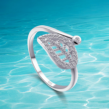 New Arrival authentic 925 sterling silver ring;jewelry women ring finger; white ring;Zircon leaves ring, bohemian leaves circle finger ring
