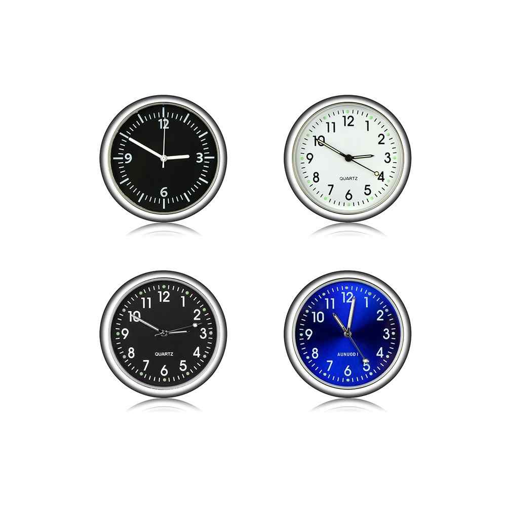 Car Luminova Gauge Mini Clock Auto Interior Waterproof Air Vent Quartz Clock Decoration Stick-On Clock Car Styling Accessories