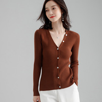 2019 autumn new women's cardigan short temperament wild slim slimming casual sweater shawl jacket female