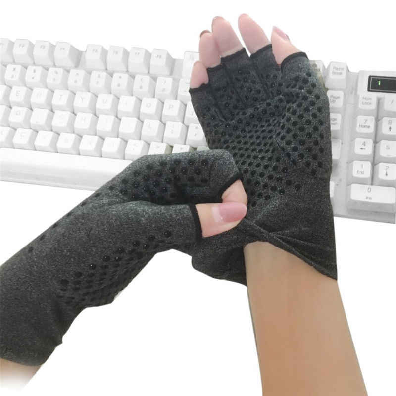 2019 Новая мода 1 пара противоскользящие перчатки при артрите руки для облегчения боли при артрите сжатие пальцев