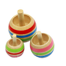 1 Set 3pcs Japanese Traditional Wooden Toy Inverted Spinning Top Gyro Boys/Girls Kids Children Gift(China)