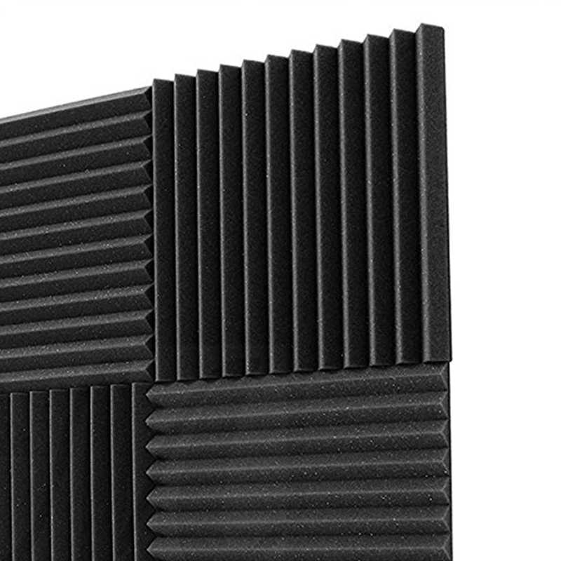 6 Pack 30x30x2.5cm Soundproofing Foam Acoustic Foam Sound Treatment Acoustic Panels Studio Foam Wedges Tiles For KTV rooms, wall