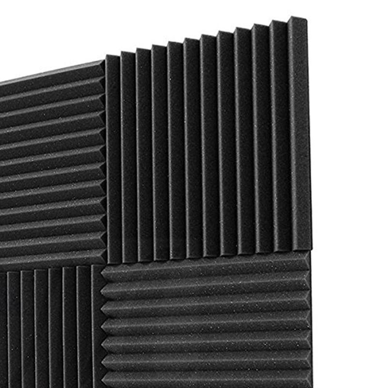 6 Pack 30x30x2.5cm Soundproofing Foam Acoustic Foam Sound Treatment Acoustic Panels Studio Foam Wedges Tiles For KTV Rooms, Wall
