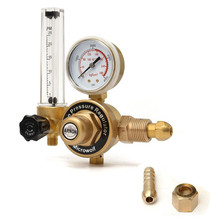 AR Argon CO2 Gauge Pressure Regulator Mig Tig Flow Meter Control Valve Reducer Welding Gas Single Tube Aquarium