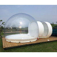 SGODDE Inflatable Eco Home Tent DIY House Luxury Dome Camping Cabin Lodge Air Bubble
